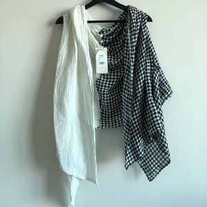LUUKAA (Designed in France) Linen Layering Gilet
